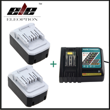 2x Eleoption 18V 4000mAh Battery For Makita BL1813G DF457D HP457D JV183D TD127D UR180D UH522D CL183D Power Tool + One Charger