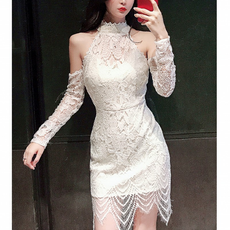 Online bodycon dress long sleeve white lace mini dress sizes discount chicago
