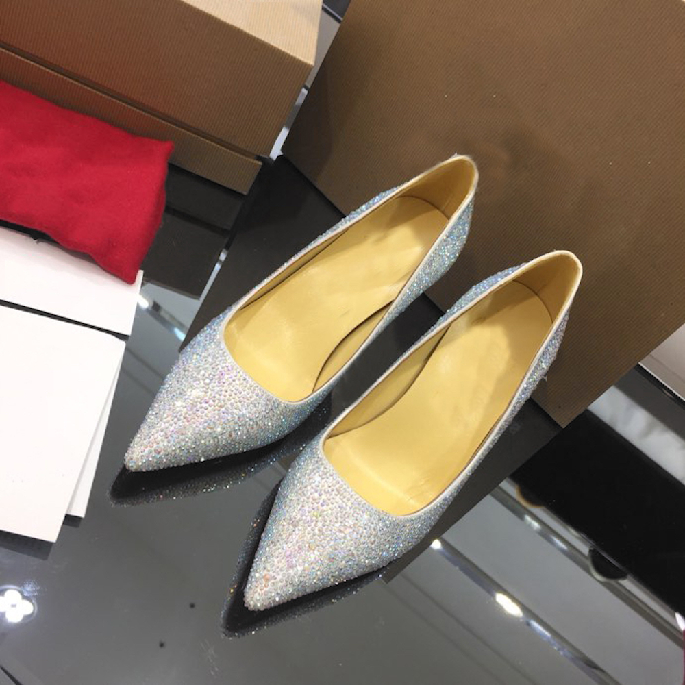 Women s Pumps Sexy High Heels Women Shoes Thin Heels Female Shoes Wedding Shoes Crystal Pumps