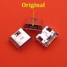 100 قطعة/الوحدة مايكرو USB مقبس صغير موصل شاحن شحن ميناء لسامسونج غالاكسي كور Prime G360 G361F Tab E T560 T561