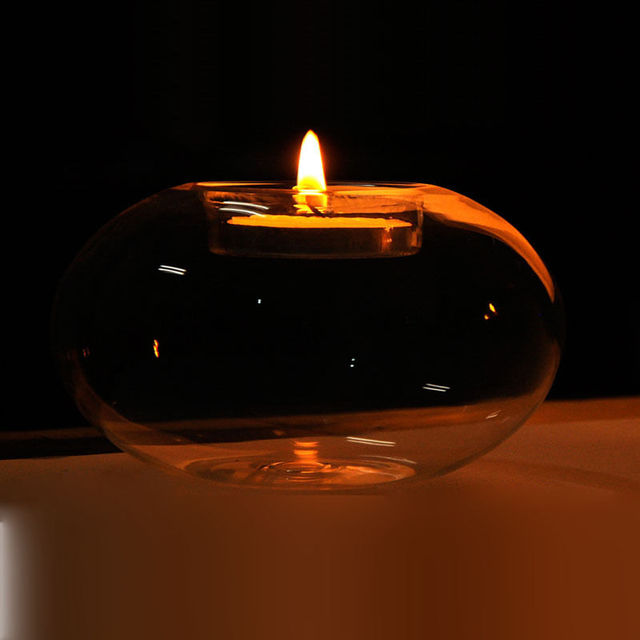 Glass Round Hanging Candle Light Holder Candlestick Party Home Decor Romanti 6