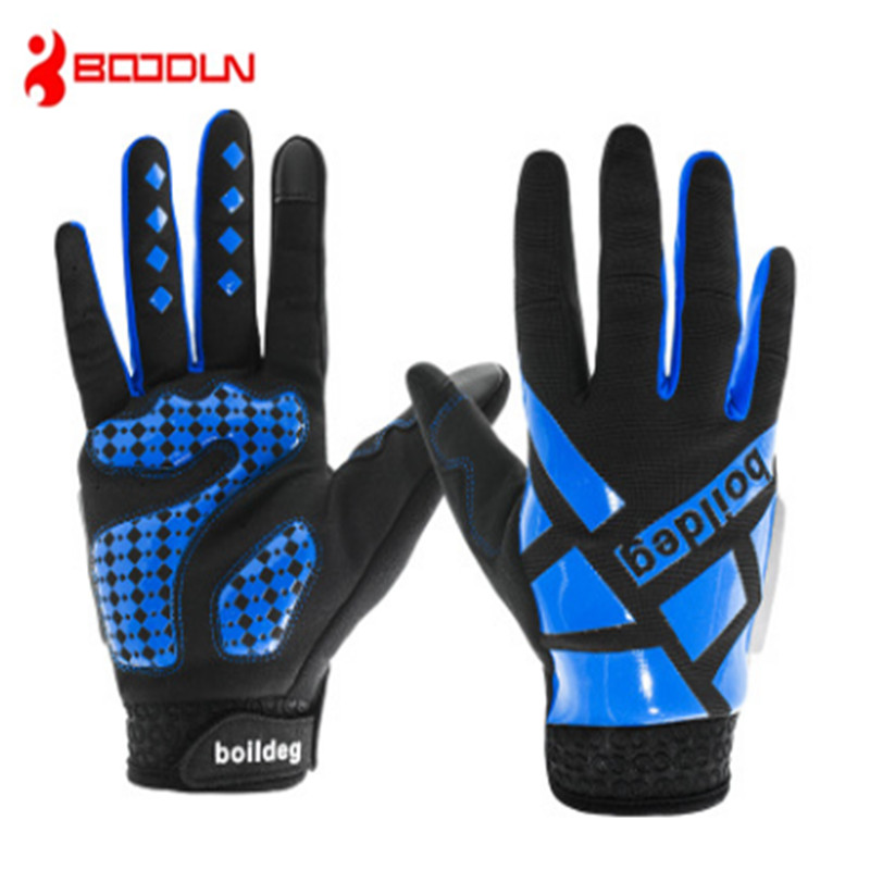BOODUN Touch screen glove Long finger Riding Bicycle Outdoor sport Ventilation Comfortable Shockproof Perspiration