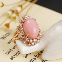 Sell Natural Jewelry Ring 925 Pure Silver Rose Gold Color Famous Brand MEDBOO Jewelry Production Popular Wholesale Fine