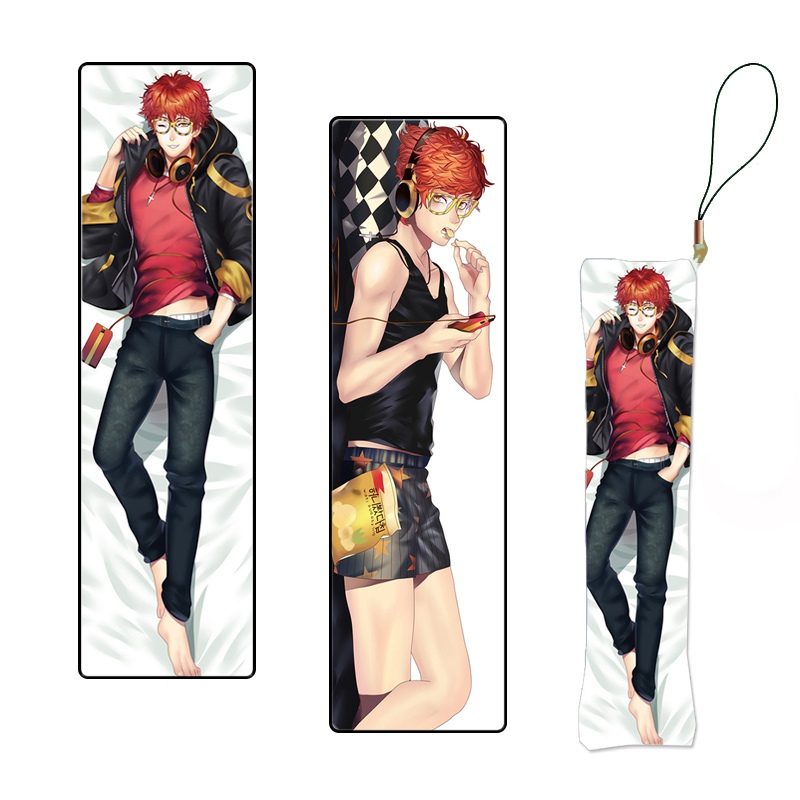 Mystic Messenger Hot Game Mini Dakimakura Anime Keychain Pillow Hanging Ornament Phone Strap