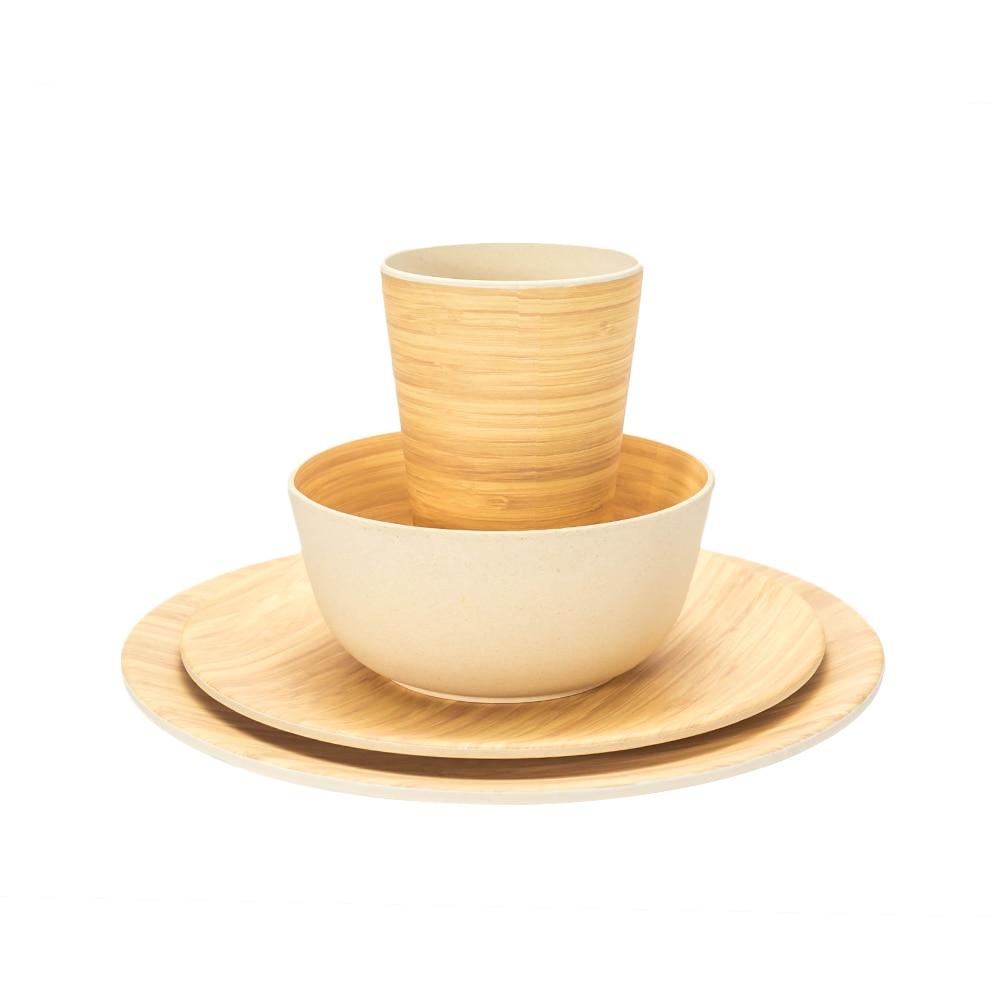 4 Pcs/Set Tableware Set Bamboo pattern 3
