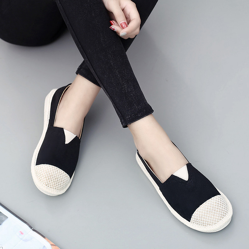 Mix Color Women Shoes Summer 2018 Breathable Ladies Shoes Flats Slip on Loafers Women Espadrilles Flat Shoe Black Pink Khaki yeerfa fashion women loafers canvas shoes slipony oxford flats heels breathable slip on comfortable mix colors white black shoes