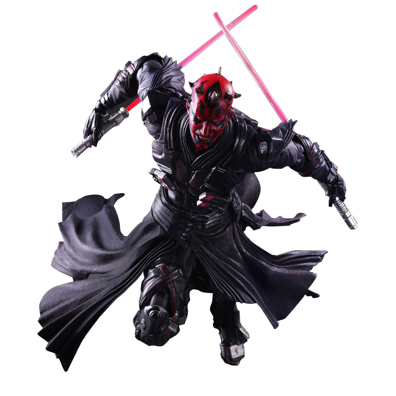 26CM Star Wars Darth Maul The Black Series PVC Action Figure Collectible Anime Movies Figures Model Toy Gifts With Box neca planet of the apes gorilla soldier pvc action figure collectible toy 8 20cm