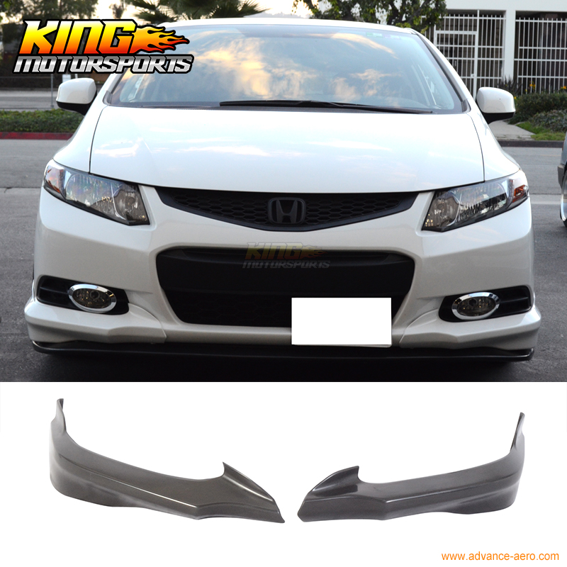 For 2012 2013 Honda Civic 9Th Gen 2Dr Door Coupe H Style Front Bumper Lip PU ξ ny ih австрийский 9th годовщина pu эр юньнань pu и hp у ребенка teacake 2016 357gripe