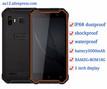 """JEASUNG P8 Étanche nouveau mobile téléphone IP68 4G Antichoc Téléphone 2G RAM 16 GB ROM Smartphone 5 """"NFC D'empreintes Digitales PTT IP67 Téléphone"""