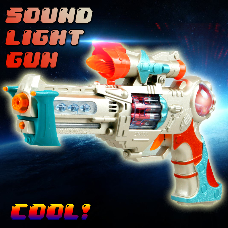 Electric Sound light Rotate font b Toy b font Gun airsoft pisto With Music Revolver Christmas