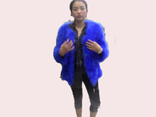 Hot-selling 2015 ostrich wool medium-long fur coat