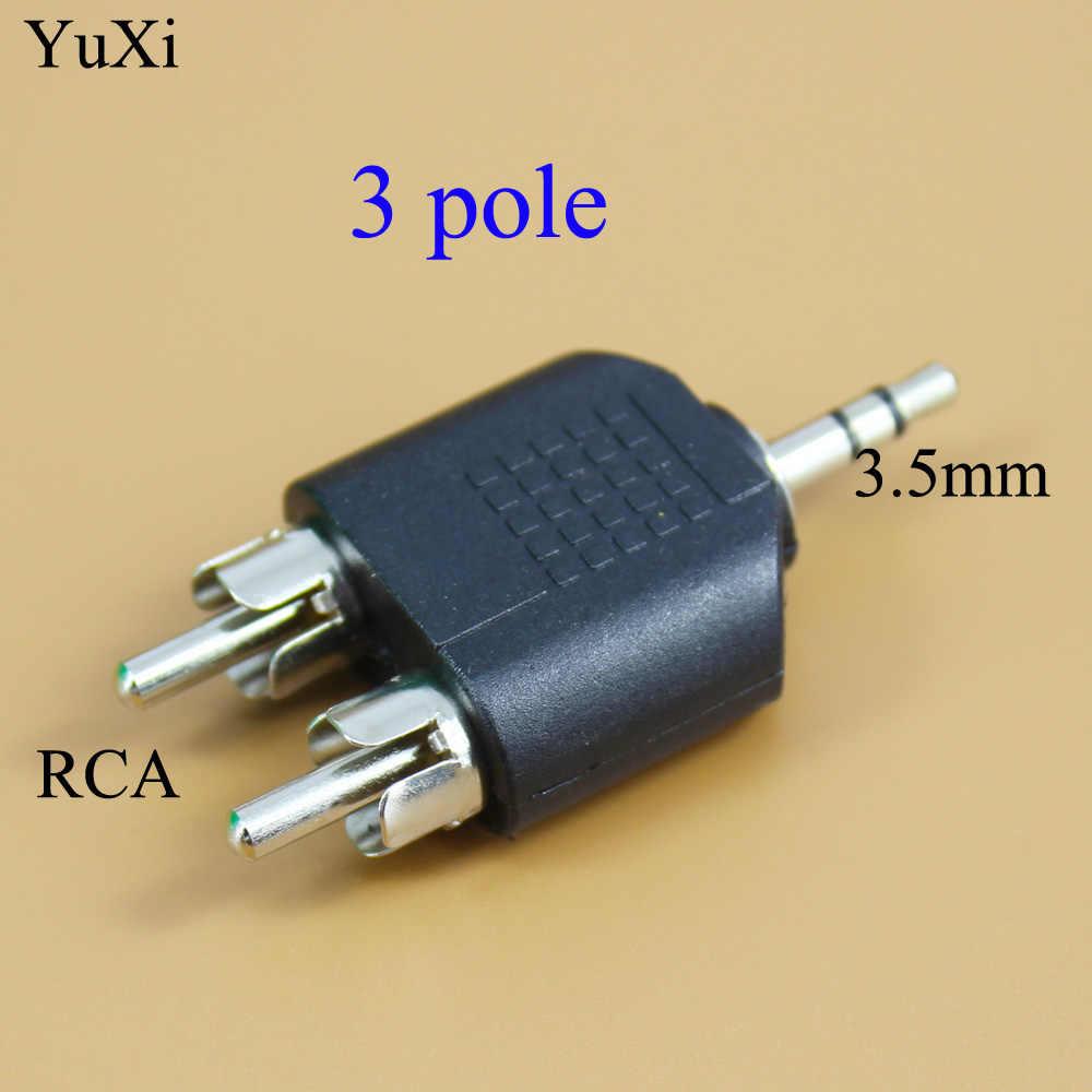 YuXi 3.5mm AUX męski na 2 RCA Audio przejściówka do komputera głośnik słuchawki słuchawki Stereo AUX Splitter złącze
