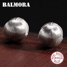 BALMORA 100% Real 925 Sterling Silver Drawing Stud Earrings for Women Girl Gift Vintage Earrings Jewelry Brincos JWE1008