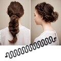 1 Pcs de Moda de Nova Ferramenta Braider Cabelo Preto Magic Hair styling Bun Rolo Cabelo Criador Torção Acessórios Y2