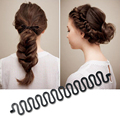 1Pcs New Fashion Hair Braider Tool Black Magic Twist Hair styling Bun Maker Hair Roller Accessories Y2