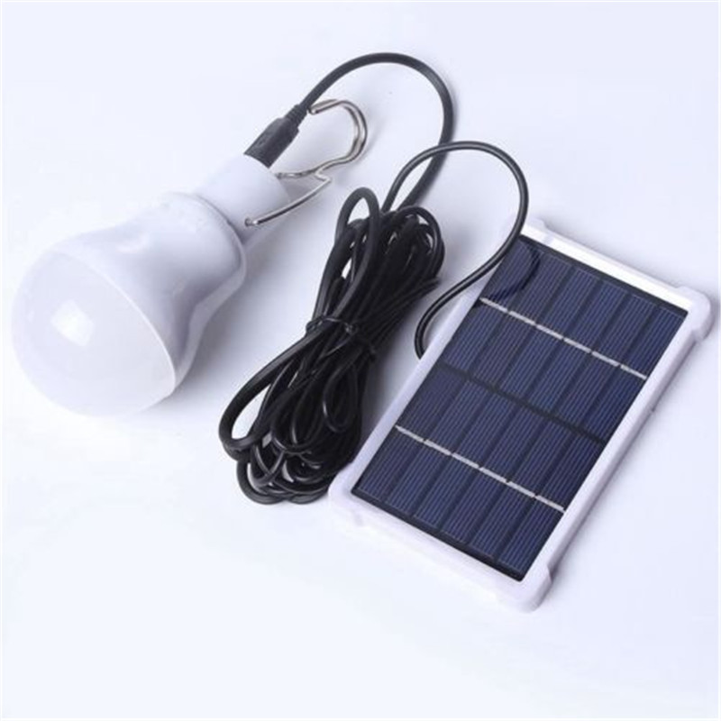 Portable Solar Powered LED Rechargeable Bulb Light Outdoor Camping Tent Lamp 20W