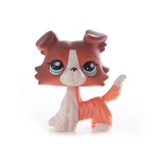 LPS Pet Shop Toys Classic Cocker Spaniel Great Dane Eye Dogs Collection Stand LPS Cosplay Mini Action Figure Children Gifts цена 2017