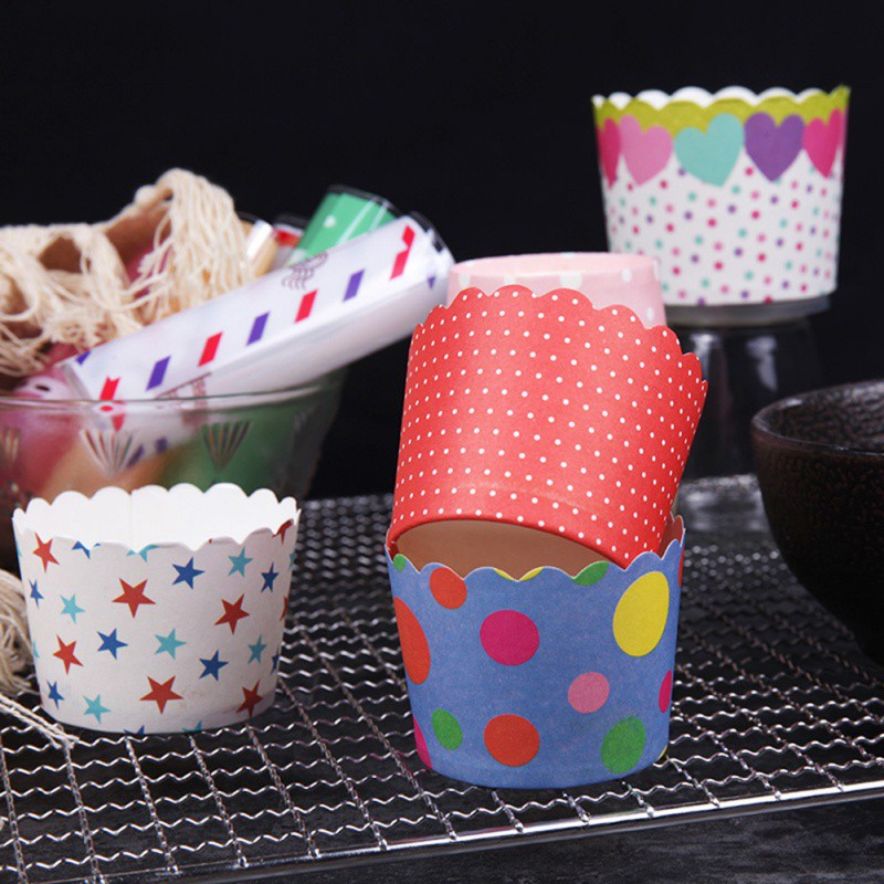 DIY Baking Paper Cup Muffin Cake Mechanism Paper Cup Cake Paper CupS Oven Home Garden Kitchen Dining Cake Tools