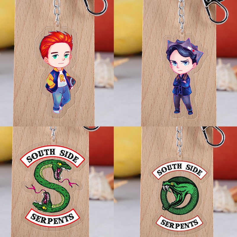 Riverdale Keychain Cosplay Props Acrylic Keychains Pendant Unisex Car MOTO Keyring Jughead Accessories