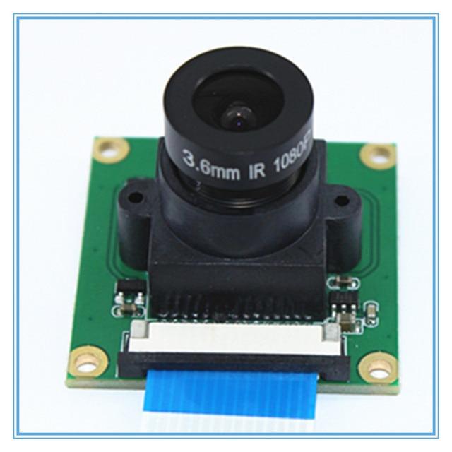 OV5647 5MP Vision nocturne pour Raspberry Pi 3/2 modèle B Module de caméra avec objectif 3.6mm à mise au point réglable avec 32*32mm