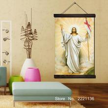Jesus Say Hello To You Scroll Painting HD Wall Art Hanging Canvas Painting HD Printed Pictures for Living Room Decoration say hello