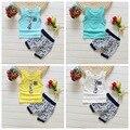 Bebé se Divierte el juego 100% de algodón de verano de diseño de moda de los bebés ropa juego para 1 2 3 Años de Edad los niños de la Marca del Envío Libre