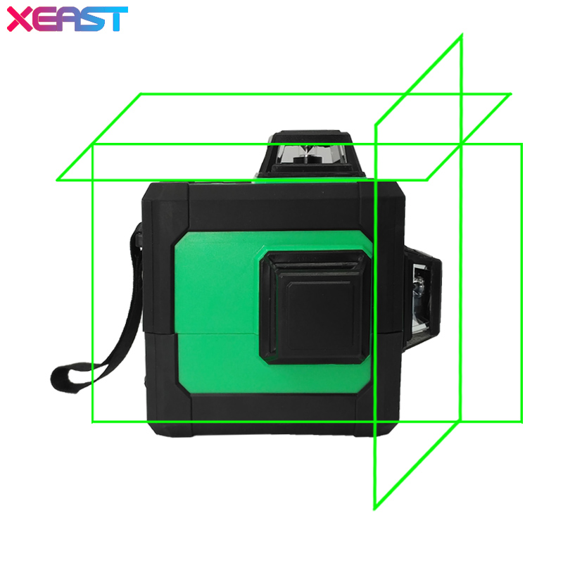 XEAST XE 11A 5 Line 6 Point Red Laser Level Meter Rotated 360 Degrees Laser Line