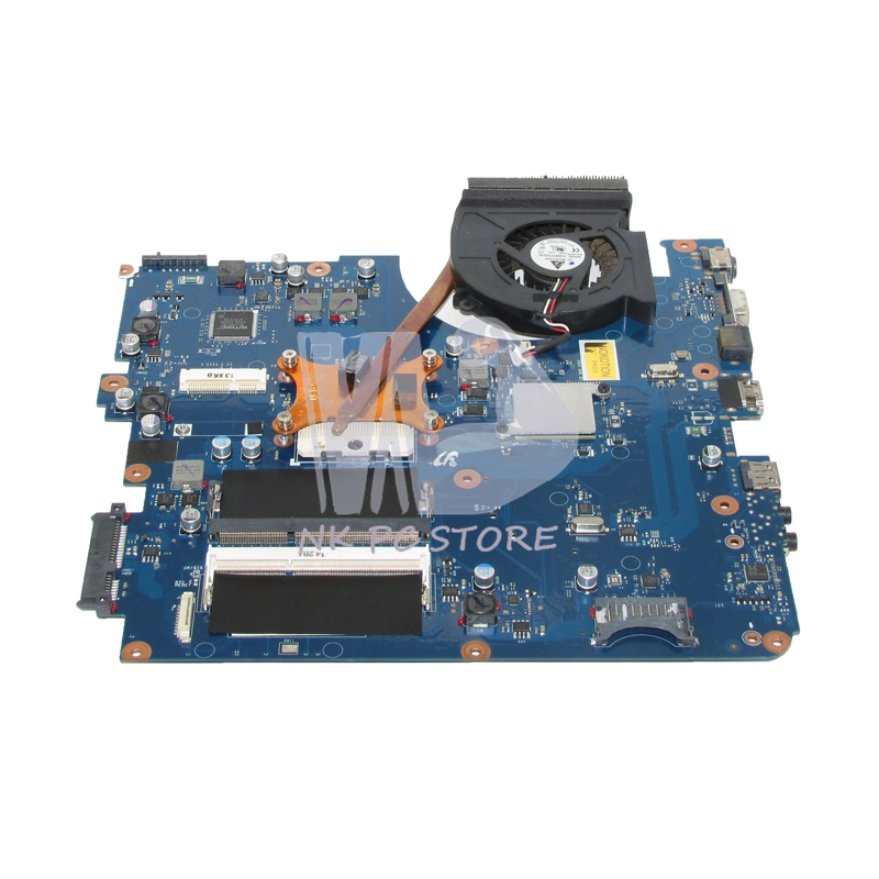 NOKOTION For Samsung R540 Laptop Motherboard gma hd with Radiator compatible R540 with HD4500 Graphics card Free CPU