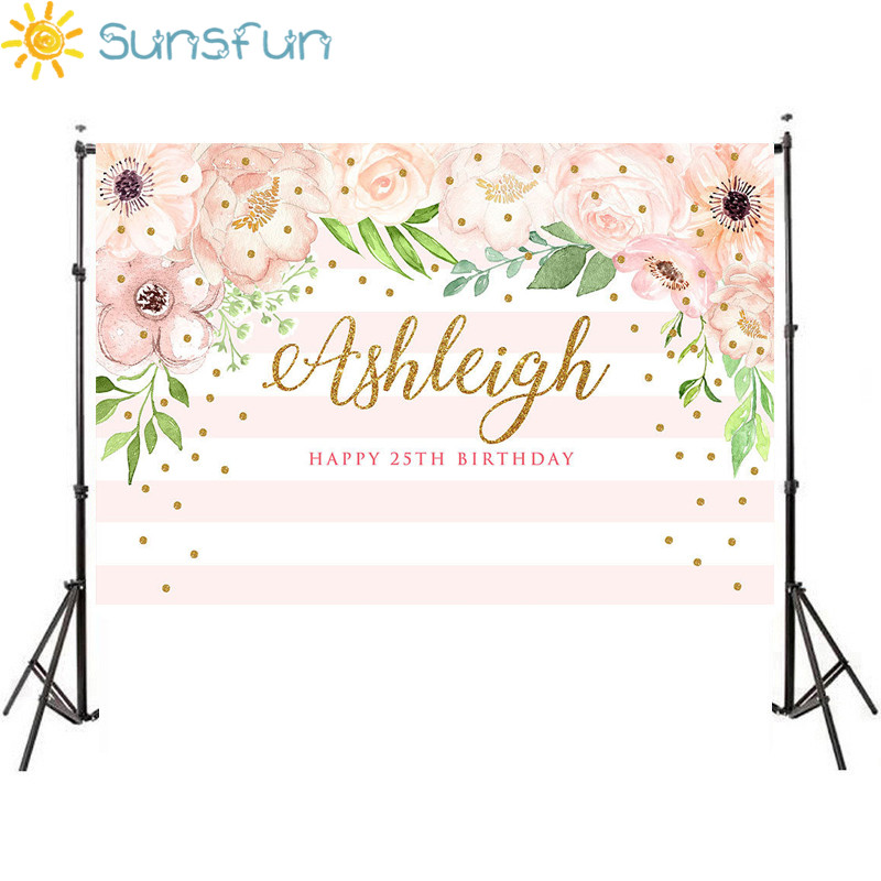 photograph about Printable Backdrop titled US $6.2 8% OFFSunsfun 5x3toes Red and Mint Environmentally friendly Floral Backdrop for Grown ups Printable Birthday Backdrop Flower Stripes History 150x90cm-in just