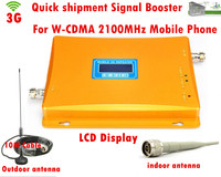 W CDMA 3G LCD Signal booster ! GSM 2100 Mobile Phone Booster Amplifier 3G GSM Repeater Cellular Signal Booster With 3G antenna