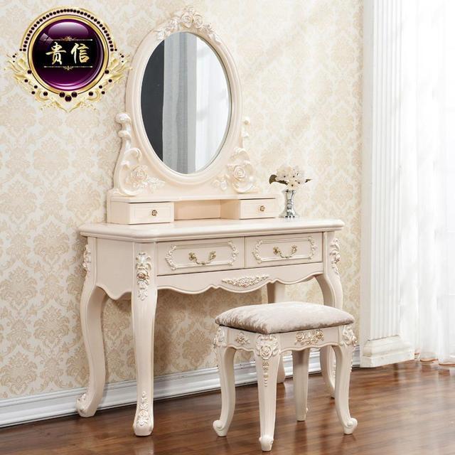Envío gratis minimalista europea cómoda de madera tocador vanidad ...