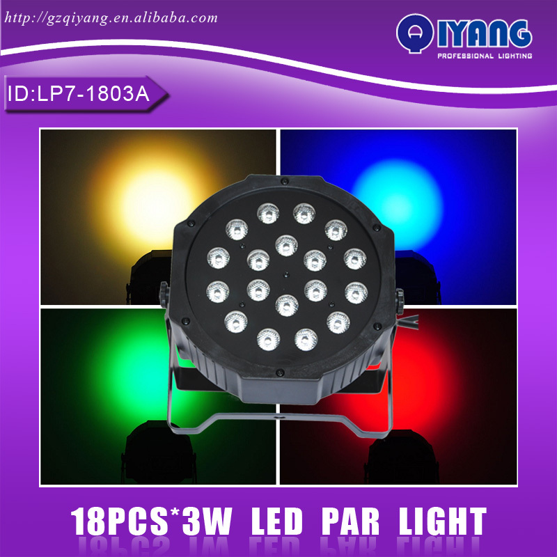LP7-1803A 18pcs*3W hot sell cheap price professional ktv disco rgb plastic flat led par light human in the store there are surprises low price store products lp st cheap suitcase