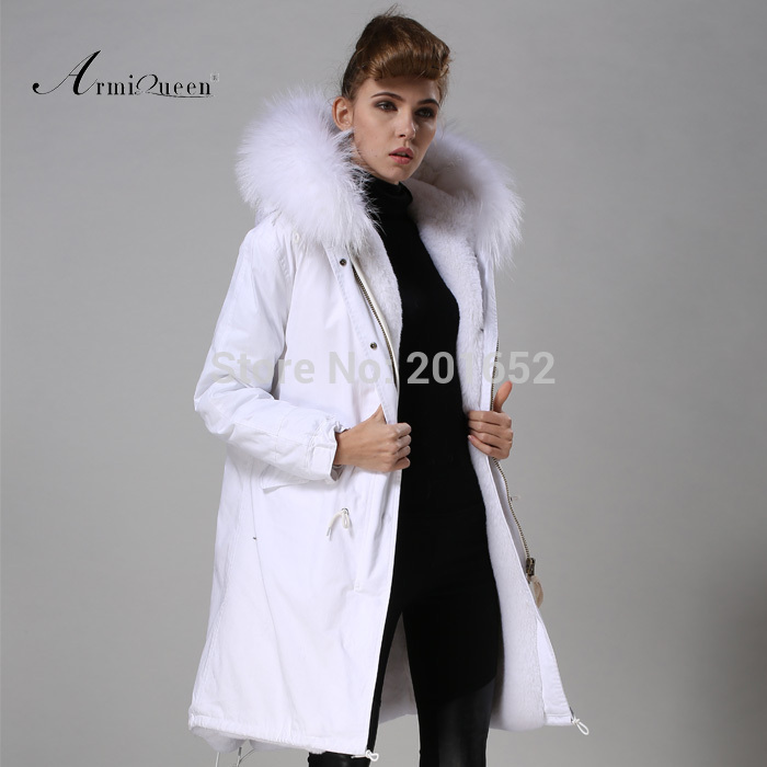 New Fashion Warm Women Slim Long canvas Jacket Fur Collar Parka ...