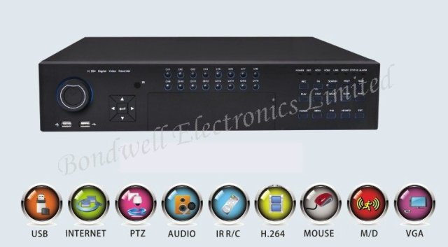Freeshipping, 24 channel real-time playback DVR Recorder, 3G mobile monitoring, support 2pcs HDD, 32ch CIF DVR