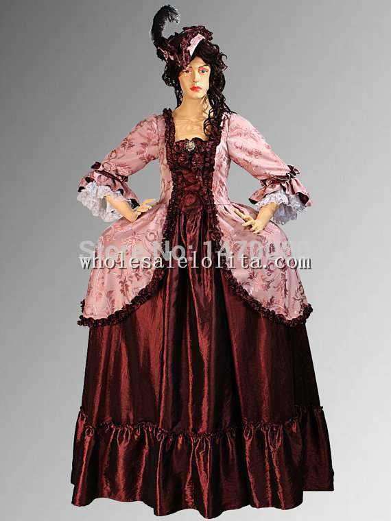 Custom Made 16/17th Century Renaissance Baroque or Medieval Dress Gown in Taffeta