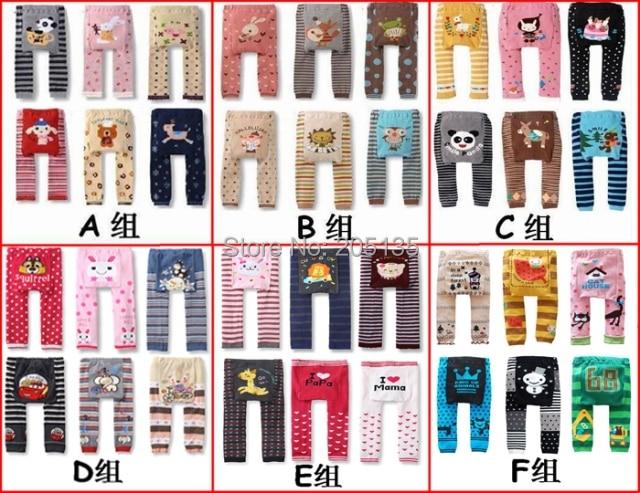 YMLBID 6 sztuk / partia Odzież Dla Dzieci Dzieci dzieci pp spodnie Maluch Cartoon Dziecko rajstopy długie spodnie Cieplej Busha Legginsy 0-24 M