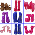 5 пар/лот Mix Стиль Дизайна Моды Обувь Туфли На Каблуках Для Monster High Куклы Сандалии Для 1/6 Монстр Куклы