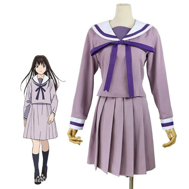 Anime ARAGOTO Noragami Aragoto Costume Dress Japan kimono Iki Hiyori Cosplay  Sailor Uniform Dress Women Halloween