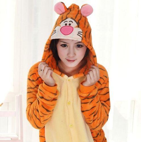 Free shipping Fashion Men/Women Minions Animal Onesies Animal Onesies pets Pyjamas/Pajama tigger sleepwear for adult