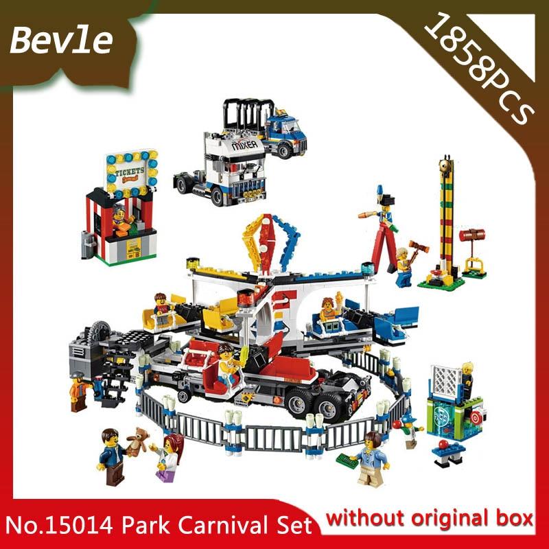ФОТО Bevle Store LEPIN 15014 1858Pcs Street View Series Amusement park The carnival Building Blocks Bricks For Children Toys 10244