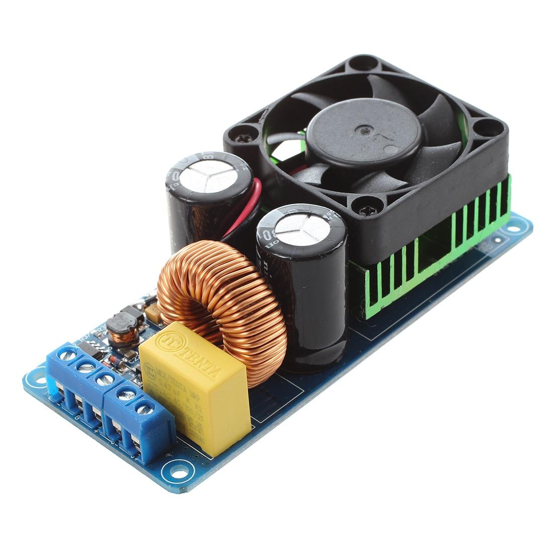 IRS2092S 500W Mono Channel Digital Amplifier Class D HIFI Power Amp Board with FAN irs2092s 500w mono channel digital amplifier board class d hifi power amp board digital amplifier module high quality