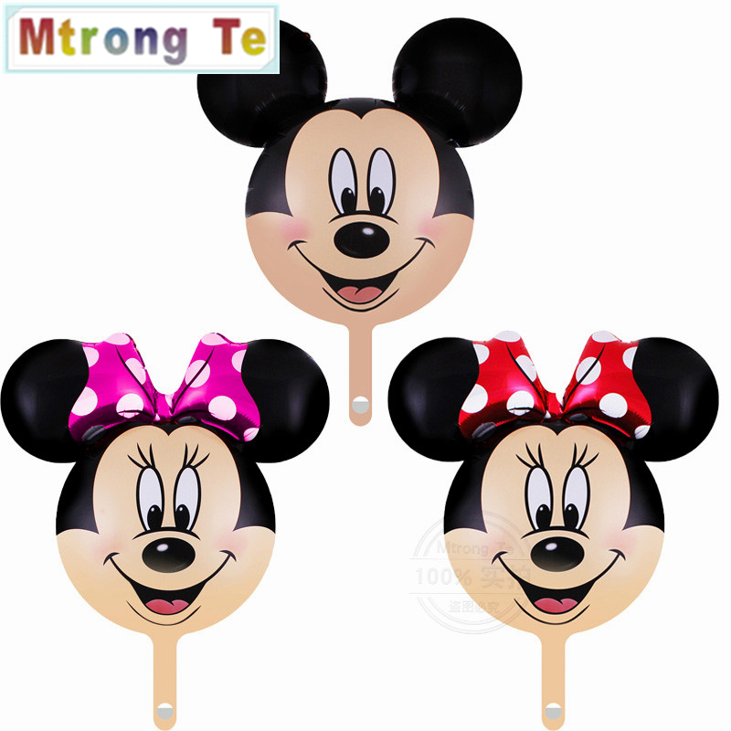50pcs mini Minnie Mickey Head Balloon Cartoon Foil Balloon