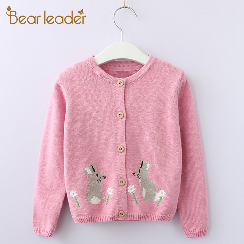 Bear Leader Girls Clothing 2018 New Autumn Children Sweaters Animals Pattern Long Sleeve Outerwear O-neck Kids Knitwear 3-9Y bear leader girls skirt sets 2018 new autumn&winter geometric pattern long sleeve sweater skirt 2pcs knitwear sets for 3 7 years