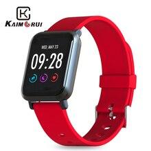Купить с кэшбэком Fitness Bracelet IPS Color Screen IP68 Waterproof Heart Rate Monitor Pedometer Smart Watch Tracker Sports Watch for Android IOS
