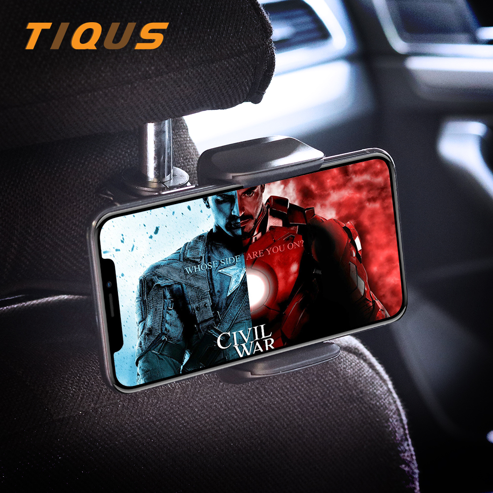 TIQUS Phone Car Back Seat Holder For IPhone Samsung Car Headrest Mount Holder Hanger Mount For Xiaomi Redmi 4x 4A Mi5 Mi6