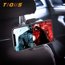TIQUS Phone Car Back Seat Holder For iPhone Samsung Headrest Mount Hanger Xiaomi Redmi 4x 4A Mi5 Mi6