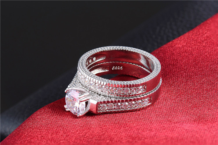 Shuangr Clical Silver Color Wedding Ring Sets For Women Bijoux Lady Vintage Luxury Shiny Cz Zircon Jewelry Accessories In Bands From