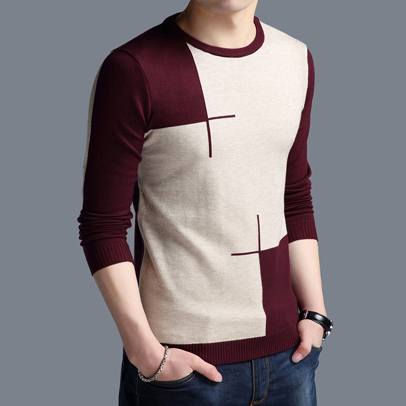 New Autumn Fashion Brand Clothing Men's Sweaters Stripe Breathable Slim Fit Men Pullover Knitted Sweater Men Plus Size 4XL