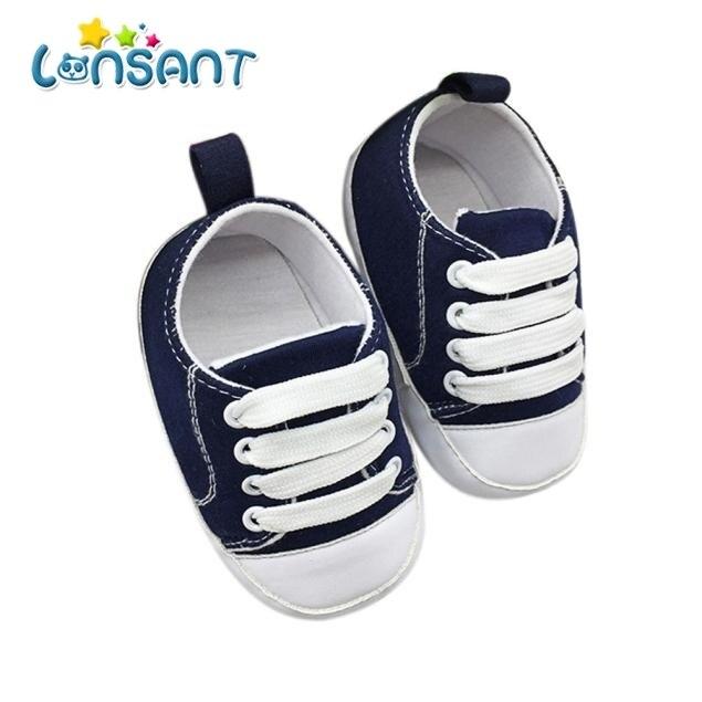 LONSANT 2018 נעלי בד נעלי תינוקות פעוטות אנטי להחליק רך מוצק E1120