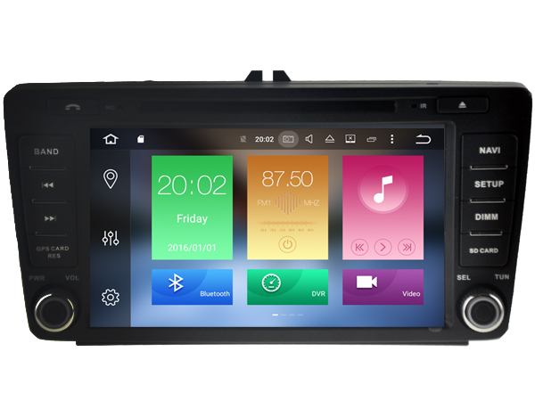 Octa(8)-Core Android 6.0 CAR DVD player FOR SKODA OCTAVIA II 2004-2011 car audio gps stereo head unit Multimedia navigation